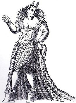 Wenecka kurtyzana ubrana w calzoni