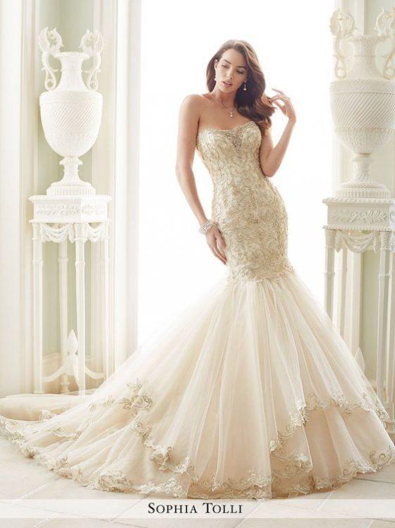 Sophia Tolli Amalfi Y21657 All Dressed Up, Bridal Gown