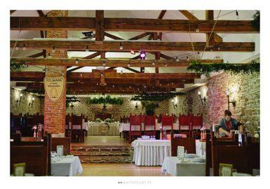 Dekoracja sali weselnej Folwark Stara Winiarnia 1